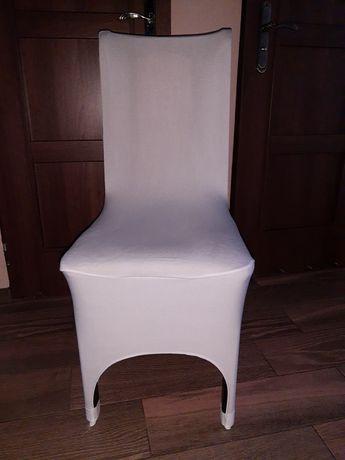 Pokrowiec na krzesło biel uniwersalny