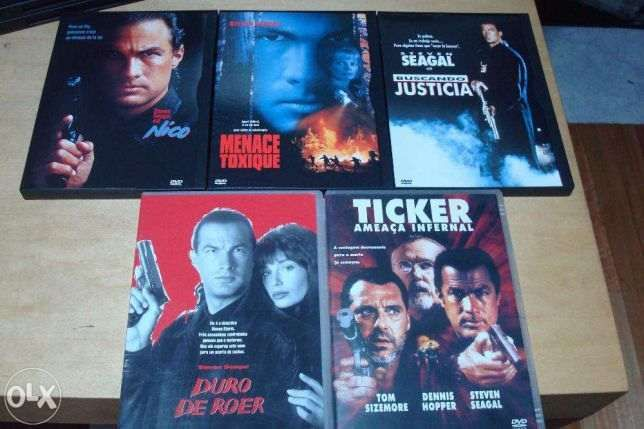 lote 12 dvds steven seagal ,voo em furia,o patriota, ticker