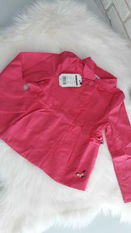 Nowy płaszczyk dla dziewczynki piękny 110 cm