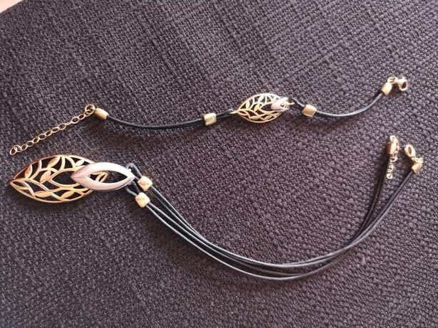 Zestaw biżuterii bransoletka łańcuszek