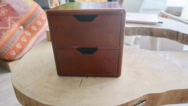 drewniane szufladki - pudełko