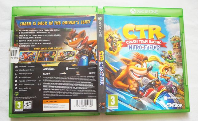 Gra CTR Crash Team Racing Nitro Fueled Xbox One Xone