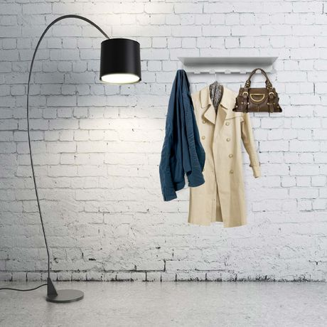 Wieszak metalowy na ubrania z półką garderoba XXL