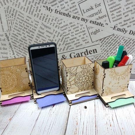 Карандашница, органайзер, подставка для телефона/планшета