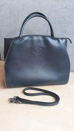Włoska torba torebka firmy Vera Pelle.