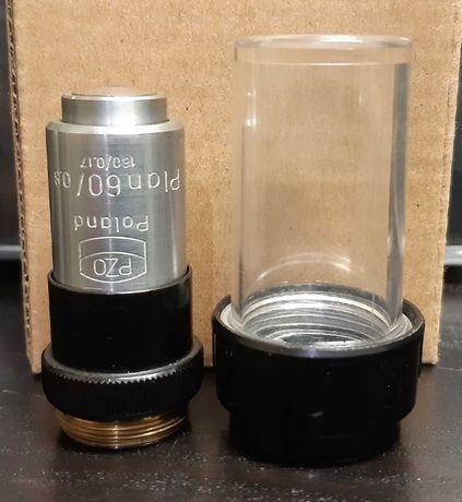 Obiektyw PZO Plan 60x 160/0,17 DIN RMS mikroskop Biolar Studar MB30