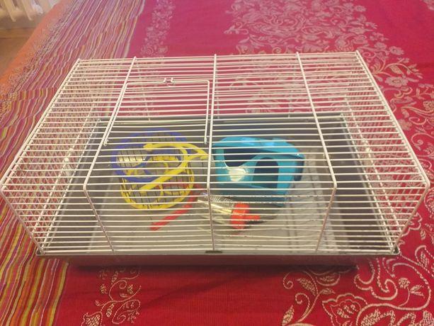 Klatka dla chomika, myszki z akcesoriami