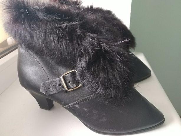 Черные ботинки 35р 22,5см