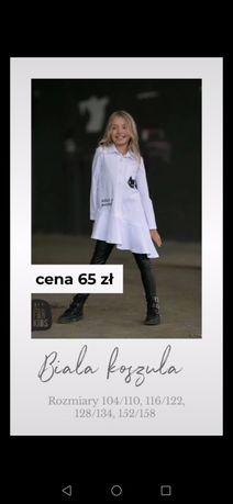 Biała koszula all for kids 116/122 cm