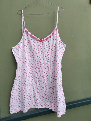 Koszula nocna na ramiączkach, piżama plus size 50, 52