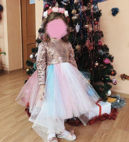 Платье пони с обручем 3-4года,новогоднее платье,плаття поні з обручем