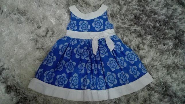 Sukienka 92 niebieska