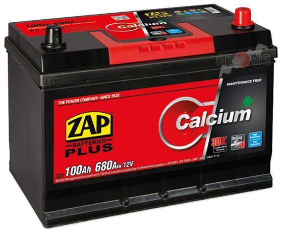 Akumulator 12V 100Ah 680A P+ CalciumPlus ZAP SZNAJDER Japan Dostawa 95