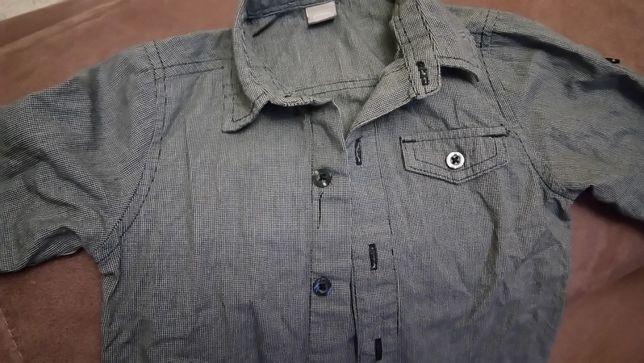 Стильная рубашка малышу на 2 года