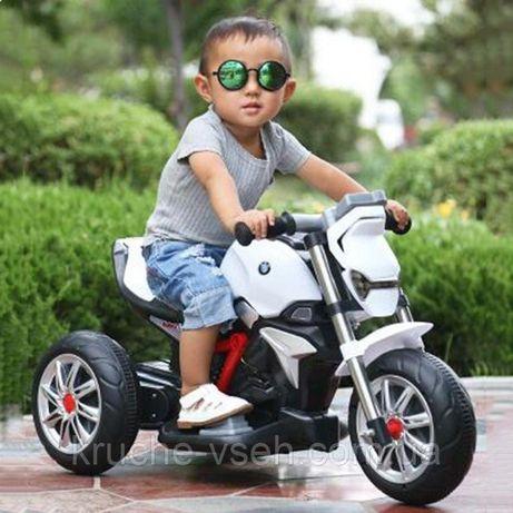 Трехколесный Мотоцикл BMW M 3639, детский электромобиль, музыка, свет