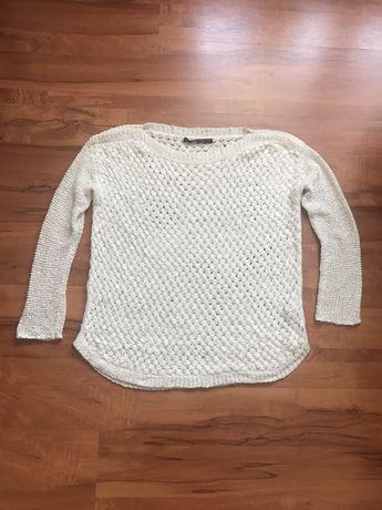 Zara sweter narzutka ażurowy r. M