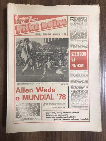 Tygodnik Piłka Nożna rocznik 1978 komplet