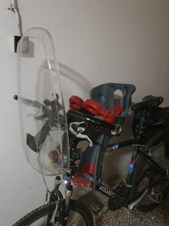 Fotelik dla dzieci rowerowy przedni / przód + szyba wiatrochron