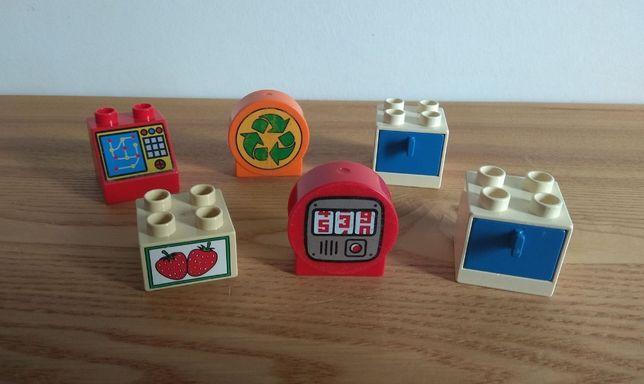 Lego Duplo - zestaw klocków - z grafikami oraz szufladki