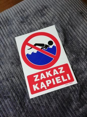 Tabliczka - zakaz kąpieli