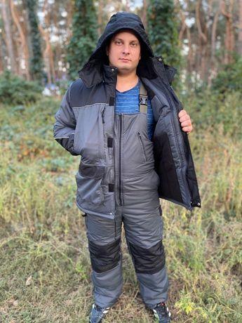 Зимний костюм для рыбалки и охоты Colambia Серо /черный ,качество