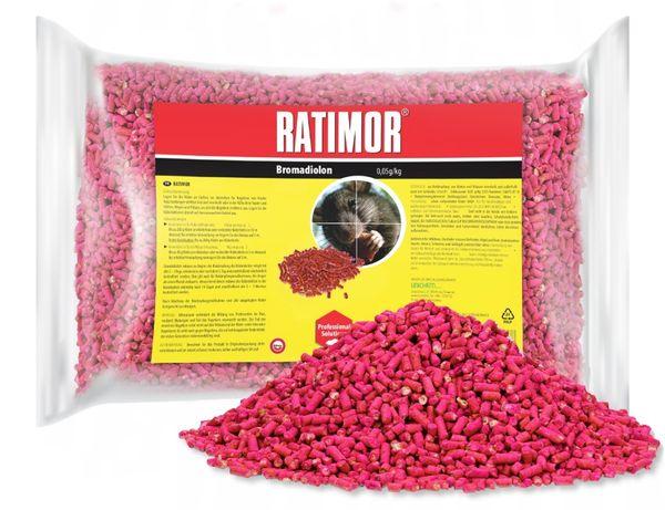 5kg Trutka na szczury, myszy, gryzonie. Granulat Ratimor