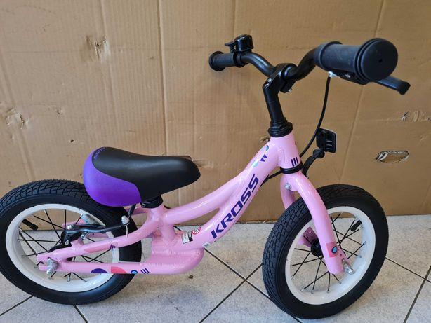 Rower Kross Kido - biegacz 12 '' , różowy , nowy