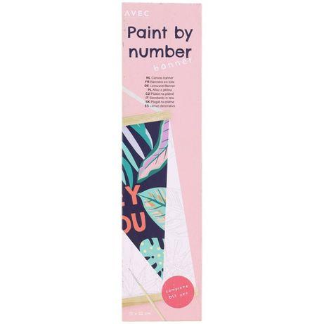 Malowanie po numerach, Afisz z płótna 21 x 32cm + farby, Wzór HEY YOU