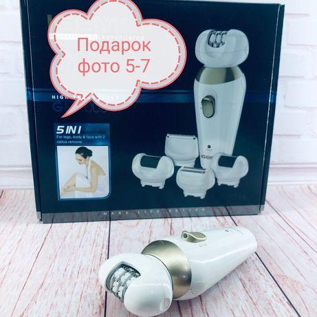Подарок!! тканевая маска Эпилятор депилятор триммер Gemei Gm 7005 5в1
