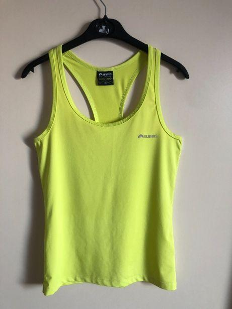 Limonkowa sportowa bokserka damska koszulka fitness Elbrus