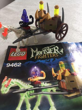 Lego Monster Fighters, скелет лошади светится в темноте, инструкция.