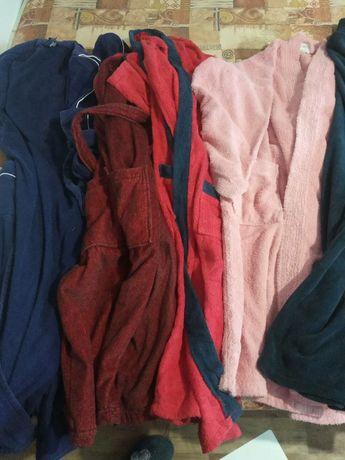 48-52 лот халатов махровые тёплые