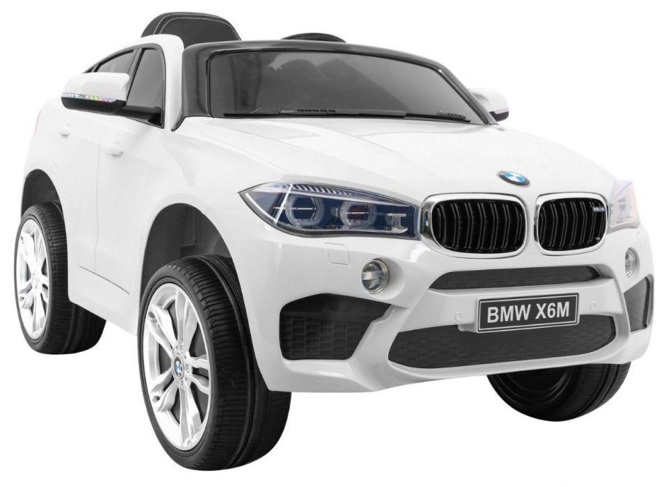 Samochód BMW X6M na akumulator dla dzieci koła EVA + skóra Libiąż - image 1