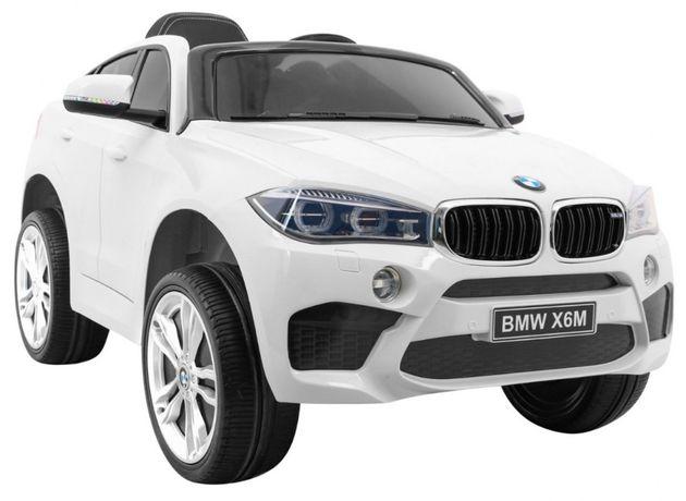 Samochód BMW X6M na akumulator dla dzieci koła EVA + skóra