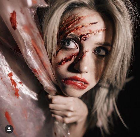 Макияж Грим на Хэллоувин Halloween Муэрта,SFX, Маски Зомби,Черепа Шрам