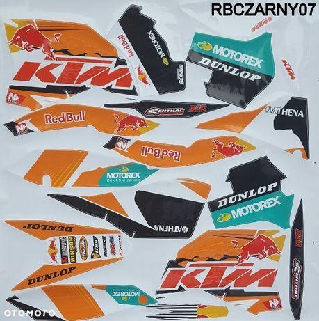 Okleina KTM SX SXF zestaw naklejek EXC 125 250 300 350 450 530 rok 2007-2010