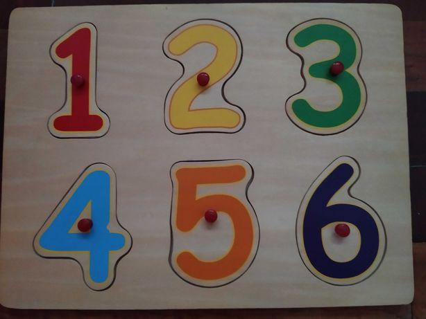 Рамка-вкладыш Цифры деревянная