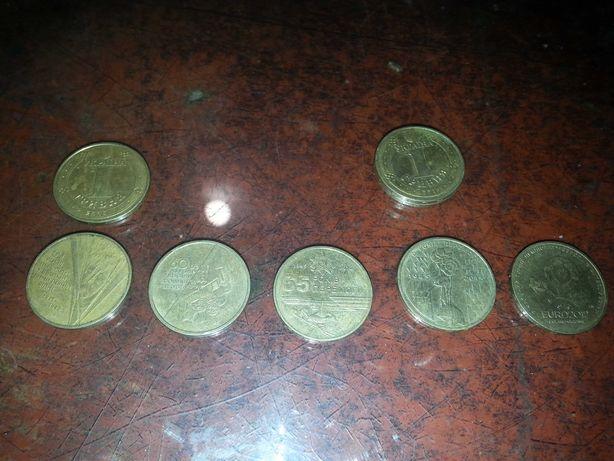 Українскі Ювілейні Монети по 1 грн