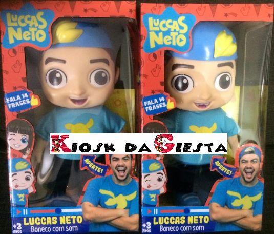 boneco Grande Luccas Neto com roupas e falas originais em brasileiro