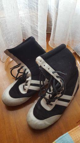 Botas em tecido preto+branco ou preto+prateado