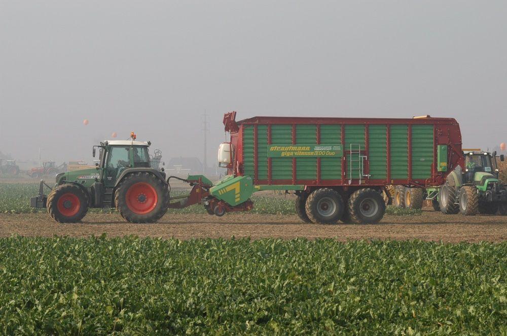 Usługi rolnicze siew kukurydzy wywoz obornika fendt strautmann