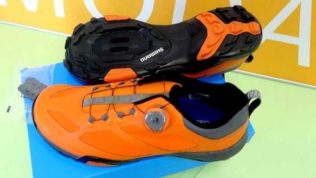 Шикарная обувь для велотуризма Shimano  Sh-Mt700 оранж  27,2см