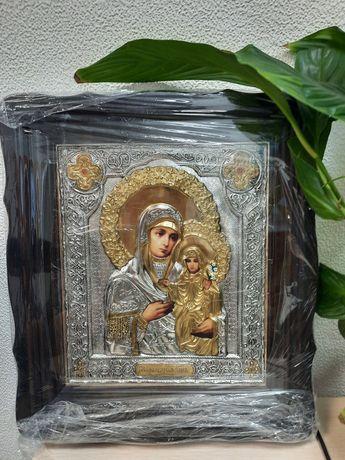 Икона святая Анна - именная икона, с серебром и позолотой