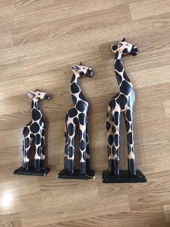 Деревянные фигурки, статуэтки жирафов