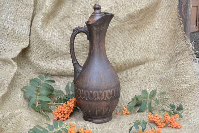 Кувшин винный 3 л крынка глиняная посуда из красной глины керамический