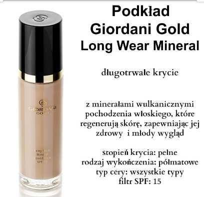 Podkład mineralny Giordani Gold Long Wear Mineral Foundation SPF 15