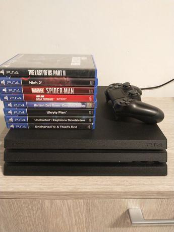 PlayStation 4 PRO 1TB + 8 Gier