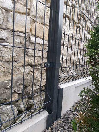 Kompletne ogrodzenie fi4 153cm + podmurówka 25cm