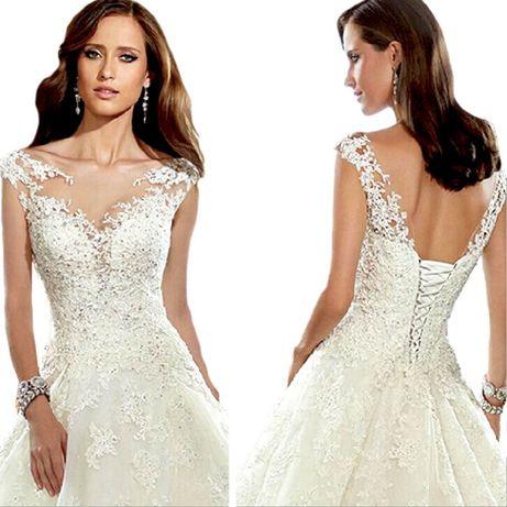 suknia ślubna wiązanie koronka xxxl 46 16W