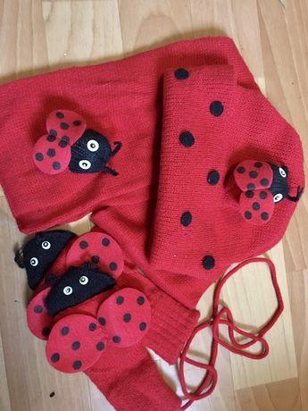 Kidorable шапка , шарфик, варежки 3-6 лет